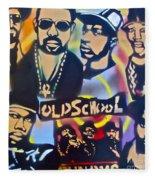 Old School Hip Hop 3 Fleece Blanket
