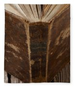 Old Shakespeare Book Fleece Blanket