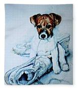 Old Shoe Pup Fleece Blanket