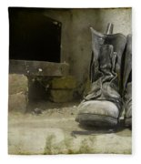 Old Shoes Fleece Blanket