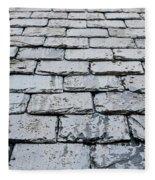 Old Slate Tiles Fleece Blanket
