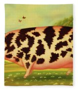 Old Spot Pig Fleece Blanket
