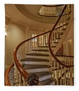 Old State House Spiral Staircase Fleece Blanket