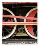 Old Steam Locomotive Iron Rusty Wheels Fleece Blanket