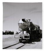 Old Steam Train Fleece Blanket