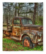 Old Still Art 1947 Ford Stakebed Pickup Truck Ar Fleece Blanket