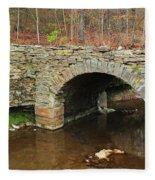 Old Stone Bridge In Illinois 1 Fleece Blanket