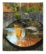 Old Stone Bridge Over Fountain Creek 2 Fleece Blanket