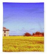 Old Stone Farmhouse Tuscany Fleece Blanket
