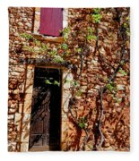 Old Stone House In Provence Fleece Blanket