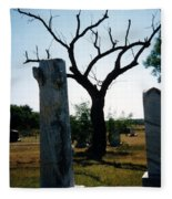 Old Stones In Old Cementery Fleece Blanket