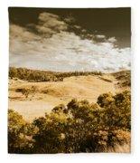 Old Summer Hills Fleece Blanket
