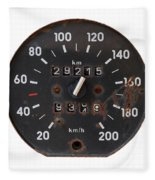 Old Tachometer Fleece Blanket