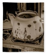 Old Tea Kettle In A Miner's Cabin Fleece Blanket