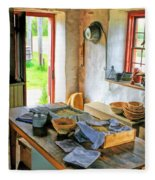 Old Time Kitchen At Old World Wisconsin Fleece Blanket