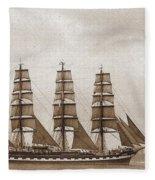 Old Time Schooner Fleece Blanket