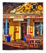 Old Town Ice Cream Parlor Fleece Blanket