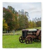 Old Tractor Fleece Blanket