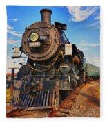 Old Train Fleece Blanket