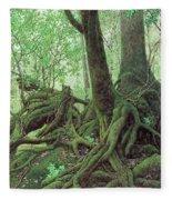Old Tree Root Fleece Blanket