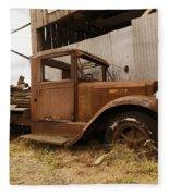 Old Truck In Old Forgotten Places Fleece Blanket