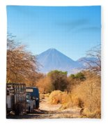 Old Truck In San Pedro De Atacama Fleece Blanket