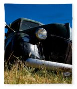 Old Truck Low Perspective Fleece Blanket