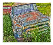 001 - Old Trucks Fleece Blanket