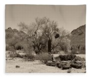 Old Tucson Landscape  Fleece Blanket