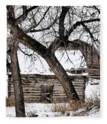 Old Ulm Barn Fleece Blanket