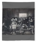 Old Varsity Men Break In And Give Advice, First State By George Bellows  Fleece Blanket