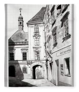 Old Viennese Courtyard Fleece Blanket