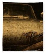 Old Vintage Plymouth Car Hood Fleece Blanket