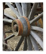 Old Waagon Wheel Fleece Blanket