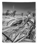 Old Wagon, Jackson Hole Fleece Blanket