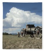Old Wagon Out West Fleece Blanket