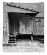 Old Warehouse Norwich Vermont Fleece Blanket