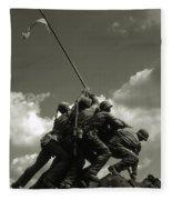 Old Washington Photo - Iwo Jima War Memorial Fleece Blanket