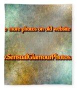 Old Website Fleece Blanket