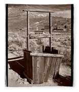 Old Well Bodie Ghost Twon California Fleece Blanket