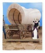 Old West Dogs Fleece Blanket