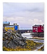 Old Whaling Village Nyksund Fleece Blanket