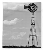 Old Windmill II Fleece Blanket