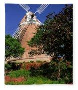 Old Windmill Fleece Blanket