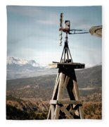 Old Windmill Fleece Blanket