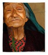 Old Women Fleece Blanket