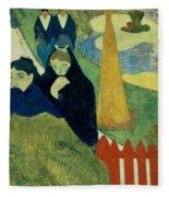 Old Women Of Arles Fleece Blanket