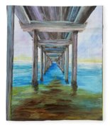 Old Wooden Pier Fleece Blanket