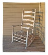 Old  Wooden  Rocking  Chair Fleece Blanket