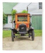 Old Woodie Model T Ford  Fleece Blanket